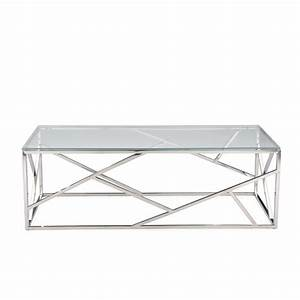 aero chrome glass coffee table modern furniture With contemporary glass and chrome coffee table