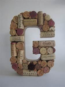 a custom wine cork letter With how to make wine cork letters