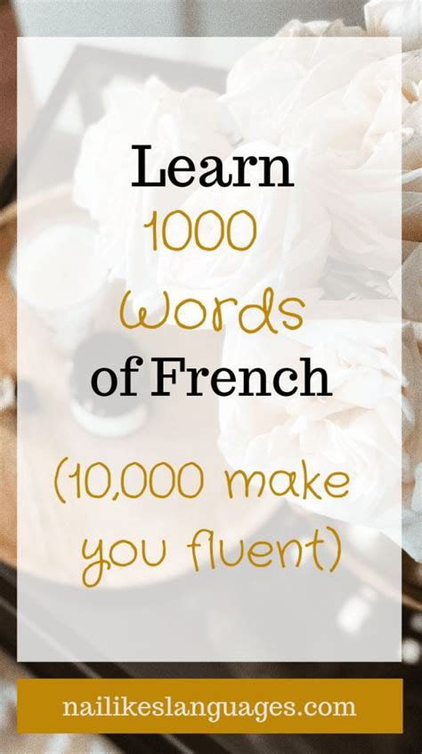 Learn 1000 Words of French (10,000 make you fluent ...