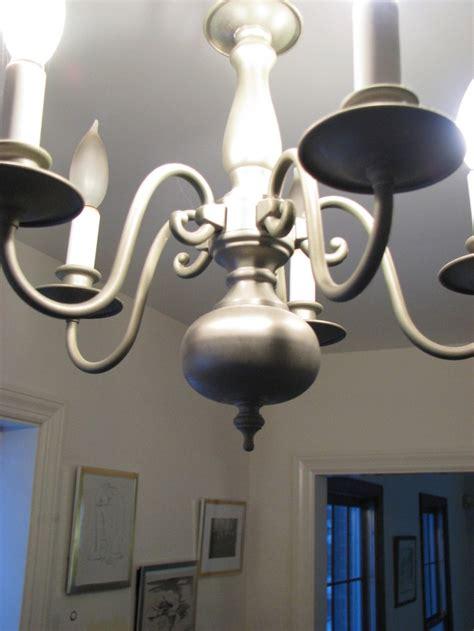 silver chandelier makeover rub  buff dimyself