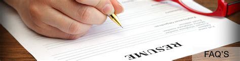 frequently asked questions about resume writing help from