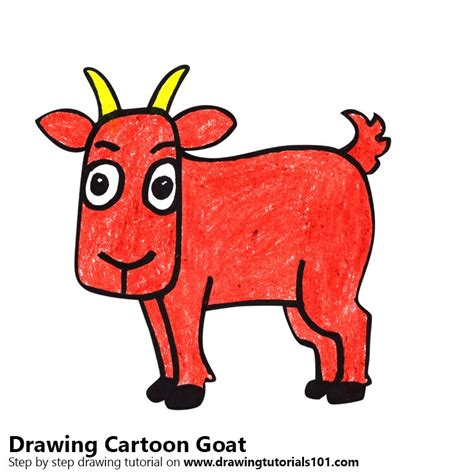 learn   draw  cartoon goat cartoon animals step