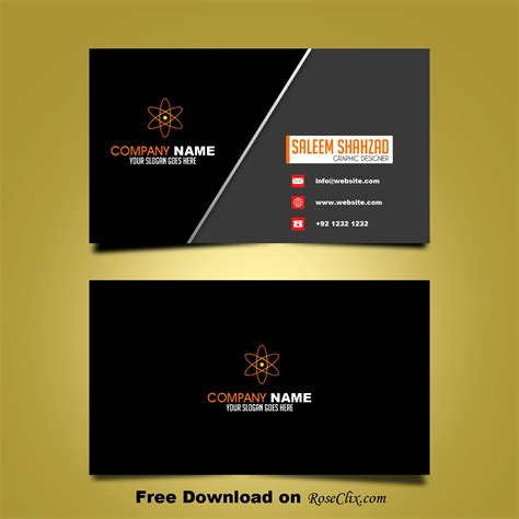 business card design template vector shapes psd