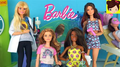 Barbie Juego de Peluqueria Salon de Belleza Muñecas con