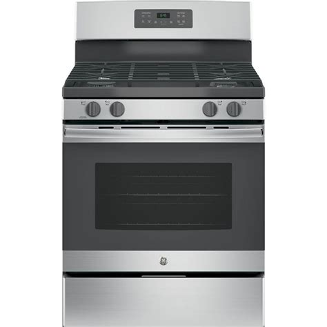 ge    cu ft  standing gas range  stainless