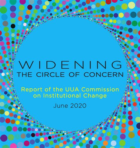 Widening The Circle Of Concern Widening The Circle Of