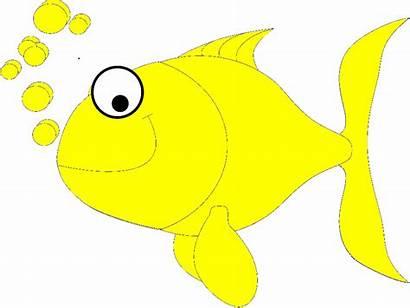 Fish Yellow Clip Cartoon Clipart Rainbow Cliparts