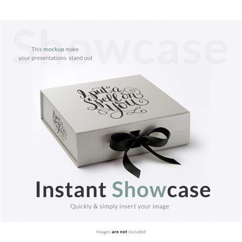 Logo printed on fabric mockup. Caixa de presente cinza simulada | Download PSD gratuito