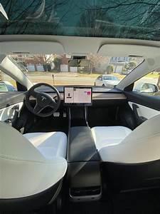 White Interior with Woodgrain Dash – Tesla Model 3 Wiki