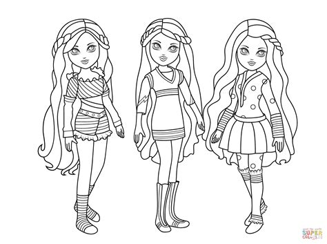 moxie dolls coloring page  printable coloring pages