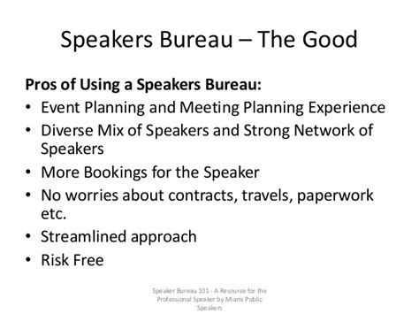 the speaker bureau speaker bureau 101 by miami speakers