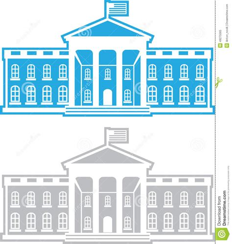White House Clip White House Stock Vector Image 49275565
