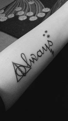 Always tattoo Harry Potter | Style Inspiration | Harry potter tattoos, Always tattoo, Hp tattoo