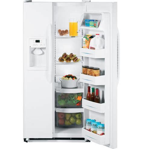 dispense java ge 174 20 0 cu ft side by side refrigerator with dispenser