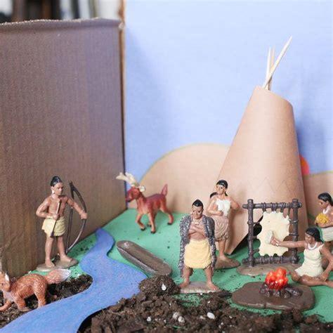 create  indian tribe diorama indian indian