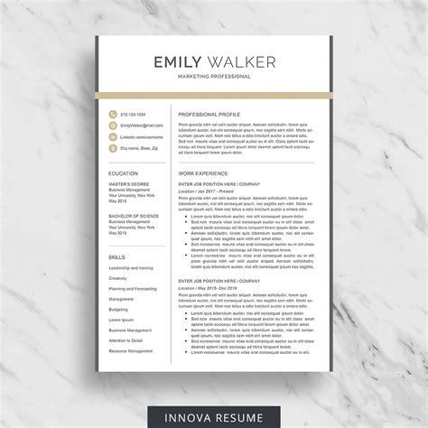 Etsy Resume Template 10 Best Etsy Resume Templates Graphicadi
