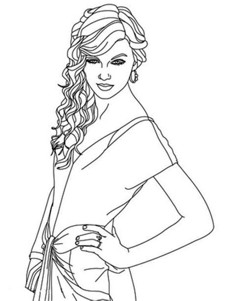 taylor swift coloring pages coloringsuitecom