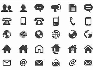 Contact flat icons - Vector download