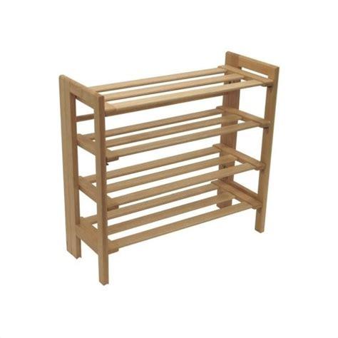 4 tiers closet organizer shoe rack in beechwood