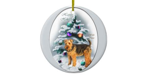 ceramic holiday gifts terrier gifts ceramic ornament zazzle