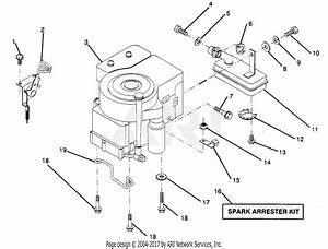 Poulan Pp1136 Tractor Parts Diagram For Engine    Throttle