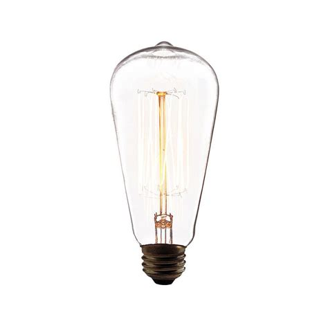 home depot lava l bulb eurofase 60 watt incandescent a19 a line light bulb retro
