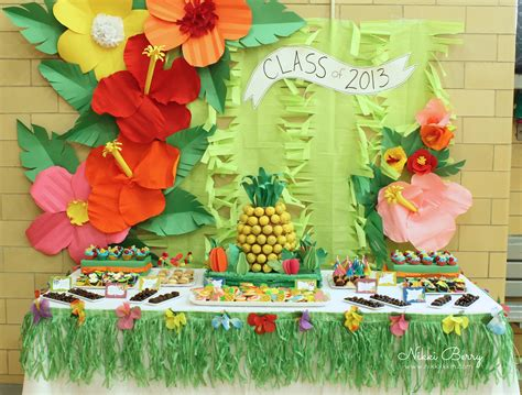 Luau Dessert Table
