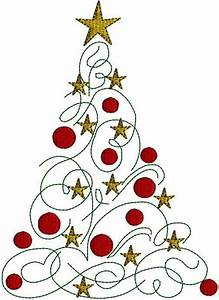 Contemporary Christmas Tree Clipart - ClipartXtras