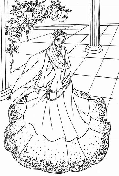 Coloring Princess Hijab Pages Deviantart Ramadan Islamic