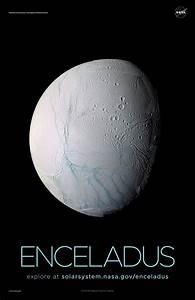 Saturn U0026 39 S Moon Enceladus Poster