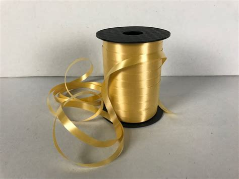 gold curling ribbon mm wide    metre roll