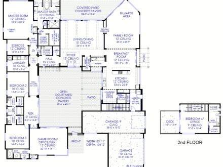 house plan  courtyard mexican style courtyard house plans modern house plans  courtyard