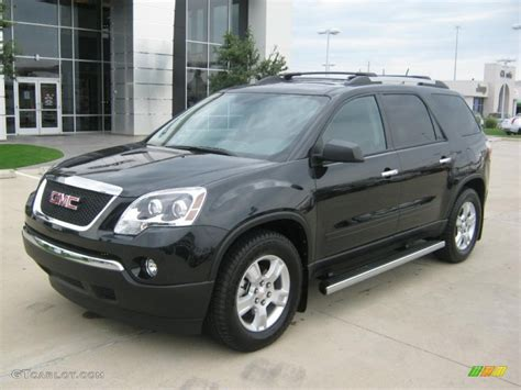 carbon black metallic gmc acadia sle