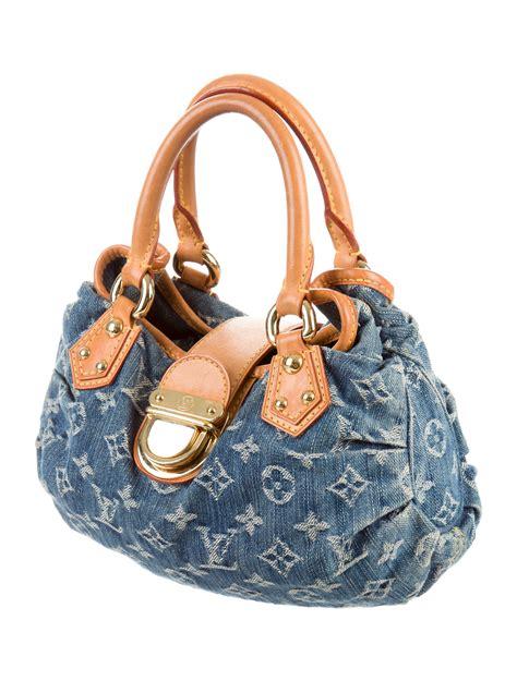 louis vuitton monogram denim pleaty bag handbags