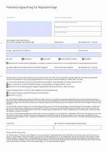 Kapitalertragsteuer Berechnen : freistellungsauftrag vorlagen und muster vom gr nderlexikon ~ Themetempest.com Abrechnung
