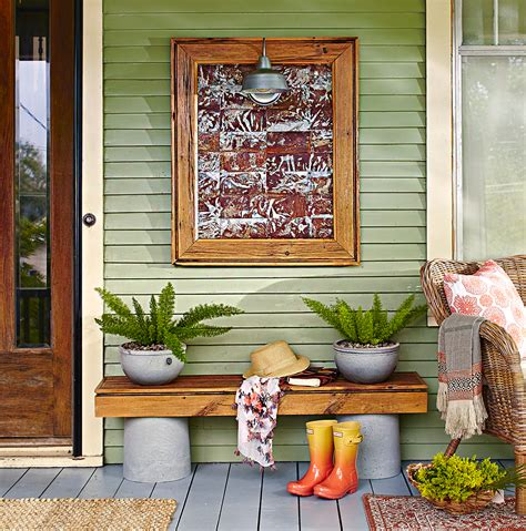 Porch Wall Decor by Create An Outdoor Bench With Concrete Better Homes Gardens