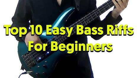 Top 10 Easy Bass Riffs For Beginners - Aprender Contrabaixo