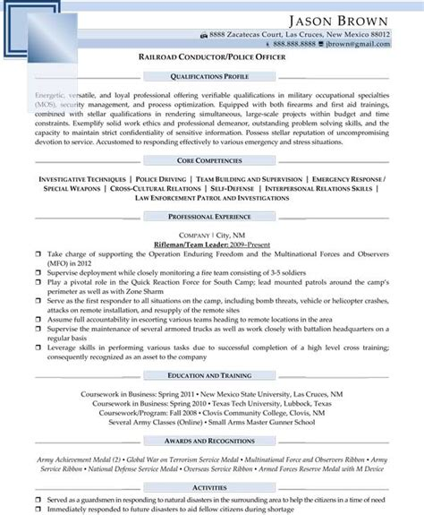 Enforcement Promotion Resume Exles by Security Resume Exles Resume Professional Writers