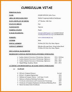 7 latest cv format 2016 pdf ledger paper With curriculum vitae format pdf