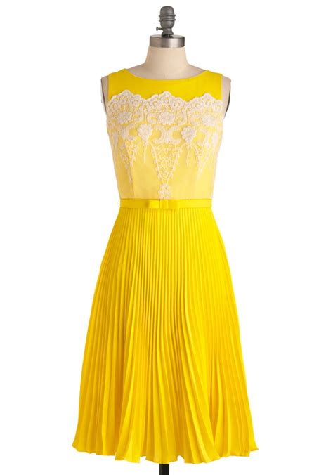 drop cloth modcloth lemon amour dress in yellow lemon lyst