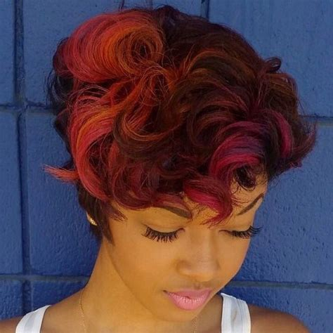 edgy ways  jazz   short hair  highlights