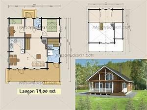 Chalet Bois Kit : plan gratuit de chalet en bois en kit et plan de maison bois ~ Carolinahurricanesstore.com Idées de Décoration