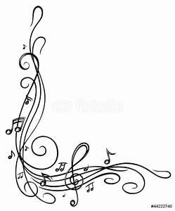 Fotomural Las notas, claves, notas musicales, música ...