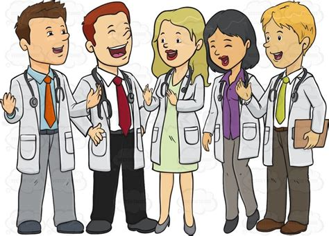 Group Of Doctors Standing Around Laughing