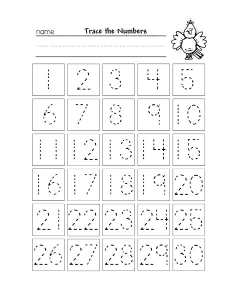 5 best images of printable tracing numbers 1 20