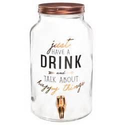 bonbonne avec robinet en verre h 30 cm happy things