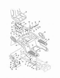 Seat  Fender Diagram  U0026 Parts List For Model 13ar606p730 Mtd