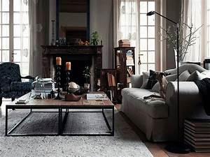 Modern industrial living room, rustic industrial living ...
