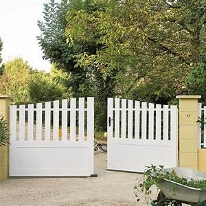Leroy Merlin Portail : portail battant pvc nantes blanc naterial leroy ~ Nature-et-papiers.com Idées de Décoration