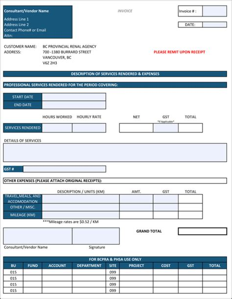 construction invoice template  contractor invoices